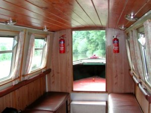 Day Hire Boat - interior